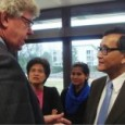 Sam Rainsy meets with Dr. Norbert Lambert, president of Parliament of Germany.